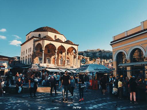 mercado de pulgas Atenas, Grecia